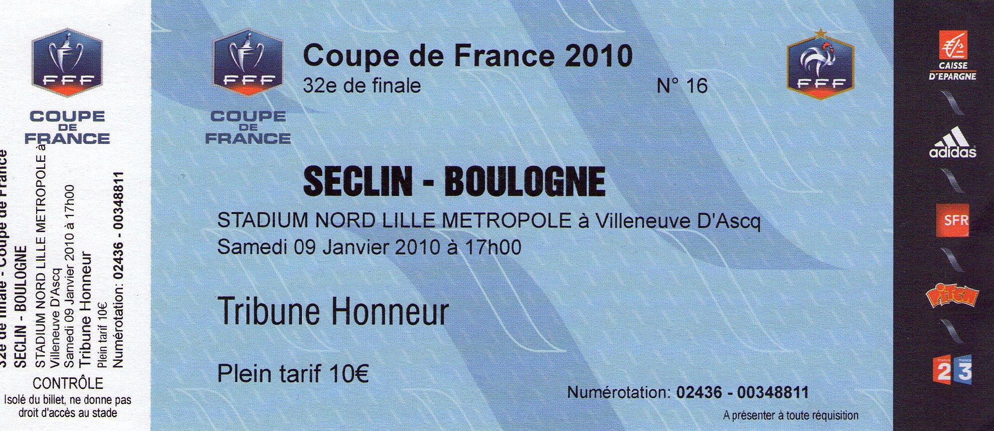 32 me de finale de la coupe de france le 9 1 2010 fc - Eme de finale coupe de france en direct ...