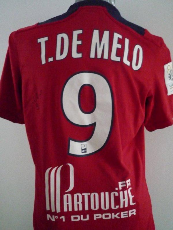 Maillot porté de Tulio DE MELO, saison 2012/13 dans LOSC, vintage demelo1